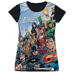 "Checkout our #LicensedGear products FREE SHIPPING + 10% OFF Coupon Code ""Official"" Jla/justice League Of America-s/s Junior Poly T- Shirt - Jla/justice League Of America-s/s Junior Poly T- Shirt - Price: $24.99. Buy now at https://officiallylicensedgear.com/jla-justice-league-of-america-s-s-junior-poly-t-shirt-licensed"