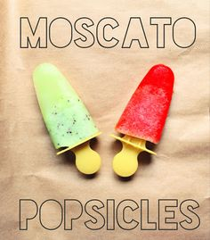 Blended fruit, a little wine, and some honey make for sweet boozy summer treats! Moscato Popsicle Recipe!