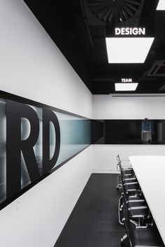 Image 15 of 33 from gallery of Office of RD Construction Company / IND Architects. Photograph by Alexey Zarodov Corporate Interiors, Corporate Design, Office Interiors, Retail Design, Interior Design Companies, Office Interior Design, Office Designs, Plafond Design, Building Contractors