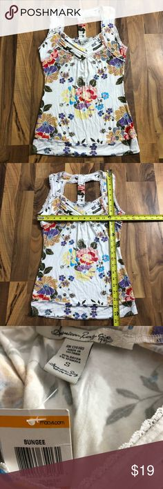NWT American Rag Size Small Floral & Lace Tank Top This top is up for sale! NWT!! Adorable!! ❤ Beautiful and brand new ❤ Cute floral print and lace accents ❤ Love the back style, stretch material, band at bottom ❤ Size Measured in Pictures 🔍📏   ✅ Bundle up items and save 💲✅  ❤️I love reasonable offers. ❤️ 🎉 Pair w/jewelry, acc. or shoes🎉 🆕 New items every week! 🆕  I'm a mama on a mission. I sell items online to support my 2 sons. Every purchase is important to us. 😘 American Rag Tops…