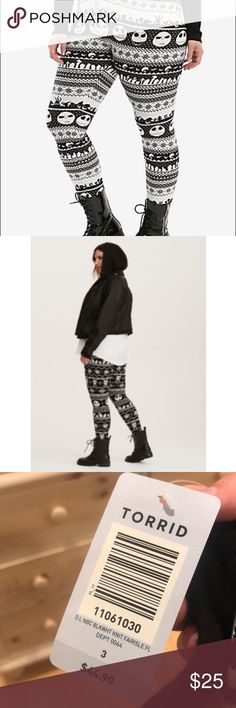 Torrid Nightmare before Christmas fleece leggings - NWT - Never worn, perfect condition - Size 3 for Torrid Torrid Pants Leggings