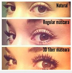 3D fiber mascara get yours today! 100% natural organic hypoallergenic chemical free 300 times the length and thickness !! GET YOURS TODAY