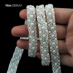 Cheap pearl cream for face, Buy Quality pearl attack directly from China pearl purse Suppliers: Craft Braided Beaded Fake Pearls Rhinestones Trim Embroidered Lace Ribbon Trim Costume Applique Sewing on Trim Learn Embroidery, Silk Ribbon Embroidery, Lace Ribbon, Fabric Ribbon, Hand Embroidery, Lace Fabric, Beaded Lace, Embroidered Lace, Uses Of Silk
