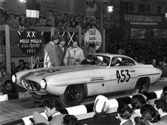 1953 Conrero-Alfa Romeo 1900 Ghia. This modified Alfa 1900 was built by Ghia for the Swiss gentleman racer Robert Fehlmann, who drove it in the 1953 Mille Miglia. It was the first car with a Supersonic body, styled by Ghia's designer Giovanni Savonuzzi.