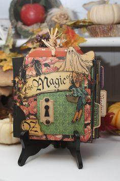 Mini album Halloween Graphic 45 The Magic of Oz