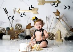 Love this bc it fits his room so well Smash Cake First Birthday, Boys First Birthday Party Ideas, Wild One Birthday Party, Baby Boy First Birthday, First Birthday Photos, Bebe 1 An, Christmas Photography Backdrops, Wild Ones, Wild Things