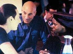 Patrick Stewart directing Whoopi and Brent Spiner