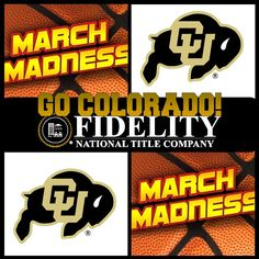 Fidelity National Title Company (Colorado): Welcome to March Madness Weekend....Here's to our CSU win last night and GO CU today!!!