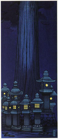 Festival of Lanterns, Nara  by Lilian Miller, 1934