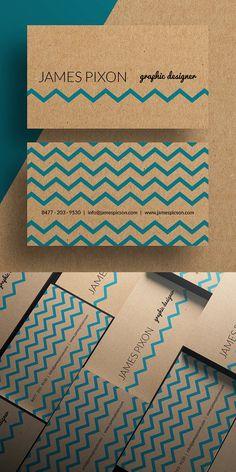 Cardboard Paper Business Card Template