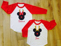Christmas at Disneyland custom raglan shirt matching family perfect for family pictures
