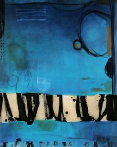 Clare Kuo, Boundaries 27 Fresh artist on abstract & contemporary art // Featured by curator of gallery TACT Abstract Expressionism, Abstract Art, Modern Art, Contemporary Art, Illustration Art, Illustrations, Art Sculpture, Encaustic Art, Blue Art