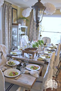 cottage dining room dinner celebration