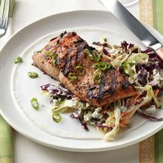 1-2-3 Grilled Salmon Recipe -I love salmon, but my husband doesn't. So I combined flavors I knew he liked to create this grilled recipe, and now it's the only salmon he will eat. It's so easy and only requires a handful of ingredients. —Nicole Clayton, Prescott, Arizona