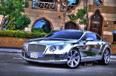 http://DXOcam.com 2013 Chrome #Bentley Continental GT (Jeddah, Saudi Arabia)