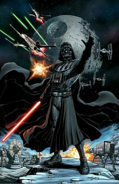 Darth Vader - colored illustrated by Tirso Llaneta colored by me - Omi Remalante for digital coloring inquiries email me at omiremalante@ Star Wars Film, Star Wars Books, Star Wars Fan Art, Star Wars Poster, Images Star Wars, Star Wars Pictures, Arte Nerd, Vader Star Wars, Star Wars Comics