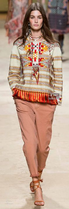 Etro Spring 2015-16 RTW – High Fashion / Ethnic & Oriental / Carpet & Kilim & Tiles & Prints & Embroidery Inspiration /