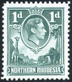 King George VI Northern Rhodesia 1938