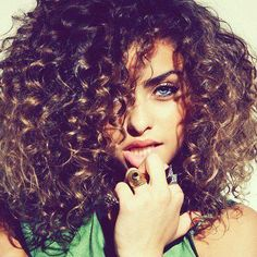 curly!!! perfect honey highlights