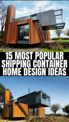 15 Most Popular Shipping Container Home Design Building A Container Home, Container Buildings, Container House Plans, Container House Design, Tiny House Design, Modern House Design, Container Van, Cargo Container, Shipping Container Cabin
