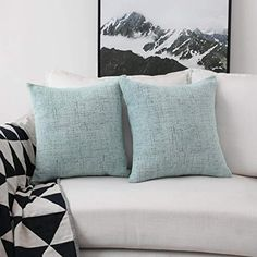 """SET OF 2 ACCENT PILLOW BY HOME COLLECTION JC PENNEY WEDGEWOOD BLUE 17/"""" X 17/"""" NIP"""