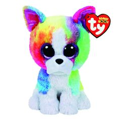 Ty Beanie Boo Large Isla the Rainbow Bulldog Plush Toy, Ty Beanie Boo Large Isla der Regenbogen Bulldog Plüschtier, Ty Beanie Boos, Beanie Boo Party, Beanie Boo Dogs, Beanie Babies, Ty Teddies, Ty Peluche, Ty Stuffed Animals, Ty Animals, Der Boxer