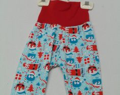 Christmas Yoga Pants Ooga  - 3 to 6 months ~ Ready to Ship, comfy pants, baby, toddler clothes