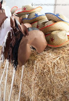 home made stick horses, craft they could decorate face, mane etc, very cute and so simple to put together