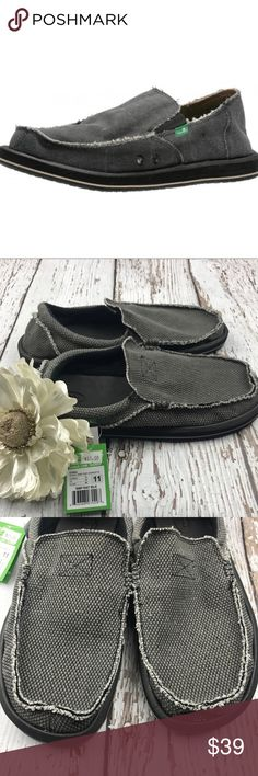 💕SALE💕 Sanuk Gray Men's Slipon Deck Shoes Fabulous NWT 💕SALE💕 Sanuk Gray Men's Slipon Deck Shoes Sanuk Shoes Flats & Loafers