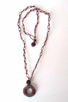 ΑΝΔΡΙΚΟ ΚΟΛΙΕ ΜΕ ΑΤΣΑΛΙ ΚΑΙ ΛΑΒΑ Pendant Necklace, Handmade, Jewelry, Hand Made, Jewlery, Jewerly, Schmuck, Jewels, Jewelery