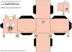 This site doesn't work - if anyone has one that does, please tag me!  Image detail for -printable pig cube craft