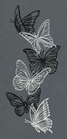 Flight  Dark Butterflies - Vertical Border UT7736 729952