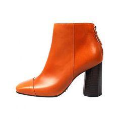 High Heeled Boots Bhbtmr905 Orange ($274) ❤ liked on Polyvore featuring shoes, boots, orange high heel shoes, high heel shoes, high heeled footwear, orange shoes and orange boots