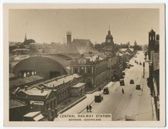 """Central Railway Station, Brisbane, Queensland.Government sold """"air space""""over station.There is a Sheraton Hotel there now."""