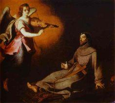 Vision to St. Francis, 1645-1646 Bartolome Esteban Murillo