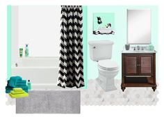 """redoing the bathroom, I hope"" by sterlingkitten on Polyvore featuring interior, interiors, interior design, home, home decor, interior decorating, iCanvas, Kohler, Avanity and Disney"