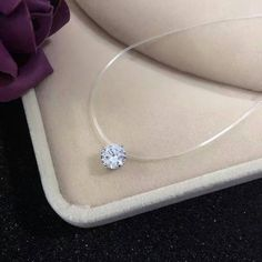 Heart Fishline Pendant Choker Necklace