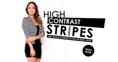 High contrast. Shop #stripes online!