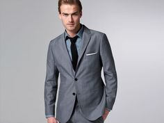 gray linen suit. thinking about getting this one to wear to a wedding this summer.