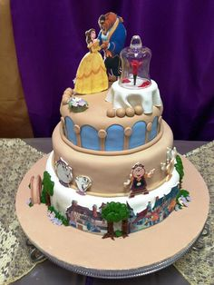 Beauty and the Beast Cake by Country Rumcakes by Tania