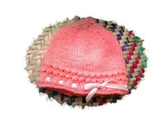 Sweet baby knitted hat - newborn