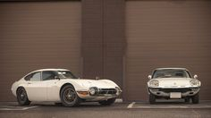 Toyota 2000GT and Mazda Cosmo Sports