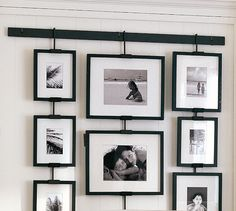 Pottery Barn's picture frames bring stylish solutions to any space. Find picture frames in wood, silver and brass finishes and create a personalized gallery wall. Hanging Picture Frames, Collage Picture Frames, Picture Hangers, Hanging Pictures, Picture Wall, Wall Collage, Frames On Wall, Family Collage, Ikea Frames