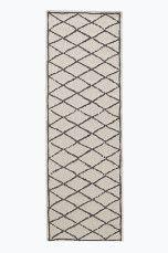 Ellos Home Matta Modesto 80x230 cm Grå, Cremevit - Slätvävda mattor | Ellos Mobile