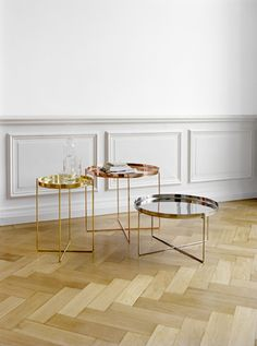 Habibi Tray Table :: Philipp Mainzer, 2008 :: Polished Brass, Copper and Stainless Steel Tray Table, Decor, Furniture, Table, Furnishings, Table Furniture, Interior Furniture, Coffee Table, Home Decor
