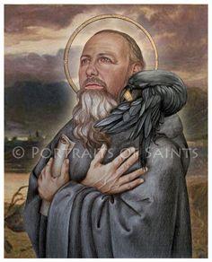 St. Benedict 8x10 Art Print  Catholic Patron Saint Free Shipping. $12.00, via Etsy.