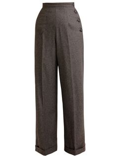 Katharine Trousers Charcoal Flannel