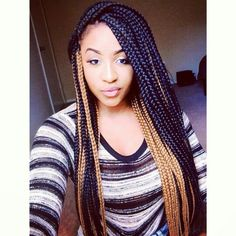 Box braids... Love the size and the colour mix...