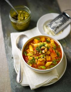 Lorraine Pascales one and only green pesto minestrone