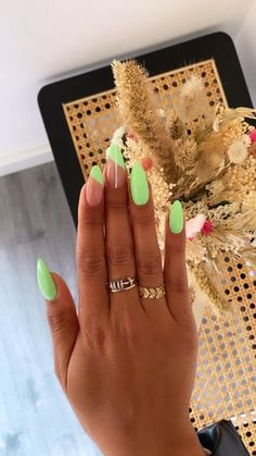 Funky Nails, Neon Nails, Yellow Nails, Trendy Nails, Swag Nails, Red Orange Nails, Orange Nail Art, Colorful Nails, One Color Nails
